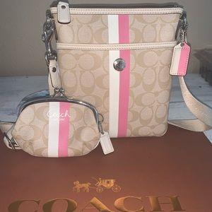 Coach set of bag & matching wallet